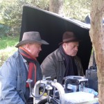 with Bruce Beresford on the set for Of Mice And Men, OA